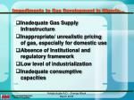 impediments to gas development in nigeria