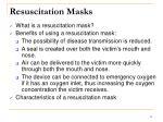 resuscitation masks