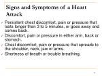 signs and symptoms of a heart attack