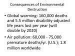 consequences of environmental destruction
