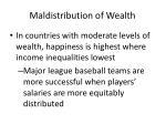 maldistribution of wealth63