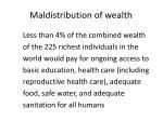 maldistribution of wealth64