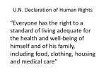 u n declaration of human rights