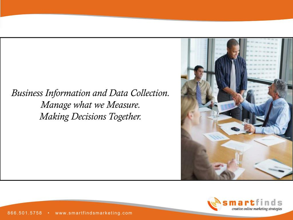 Business Information and Data Collection.