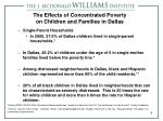 the effects of concentrated poverty on children and families in dallas