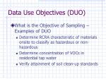 data use objectives duo