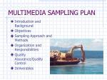 multimedia sampling plan