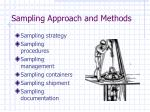 sampling approach and methods