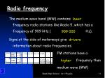 radio frequency3