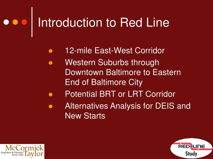 Introduction to Red Line
