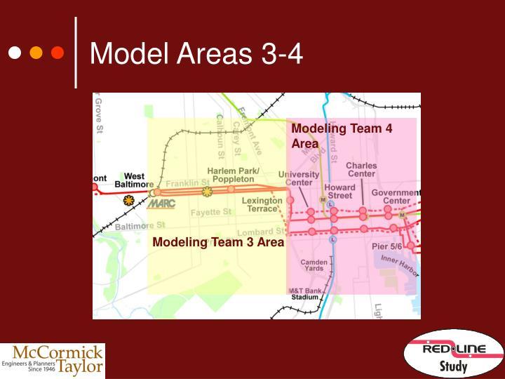 Model Areas 3-4