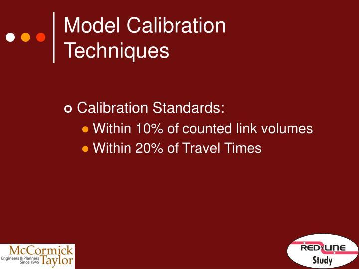 Model Calibration Techniques