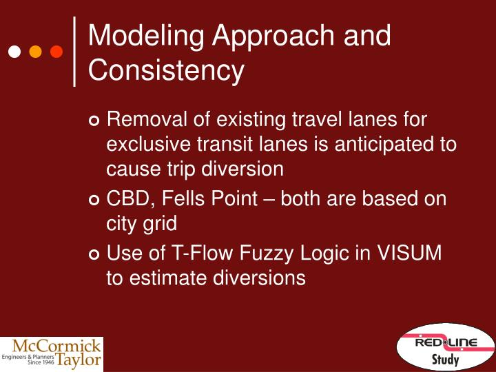 Modeling Approach and Consistency
