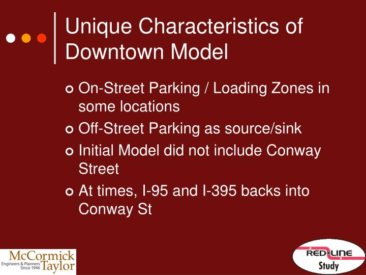 Unique Characteristics of Downtown Model
