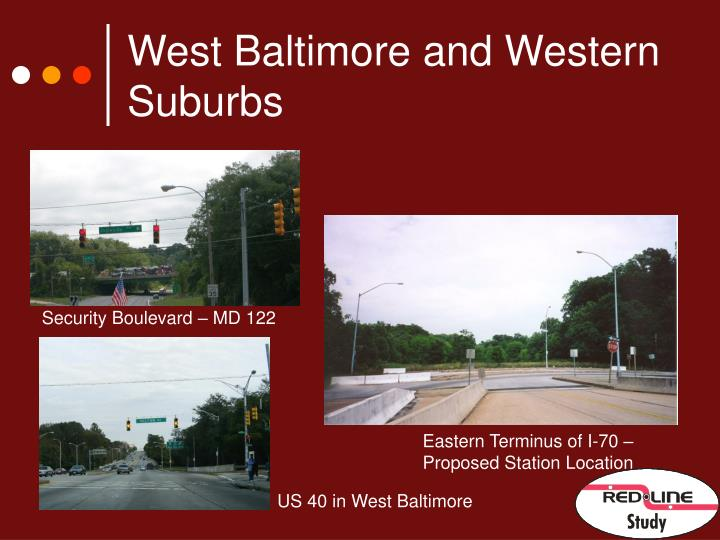 West Baltimore and Western Suburbs