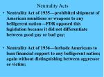 neutrality acts
