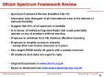 ofcom spectrum framework review