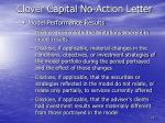 clover capital no action letter11