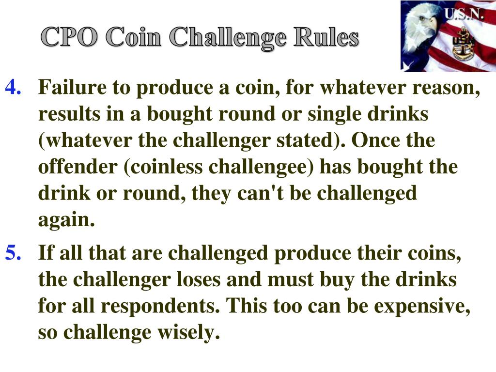 CPO Coin Challenge Rules