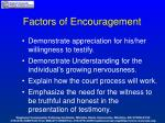 factors of encouragement