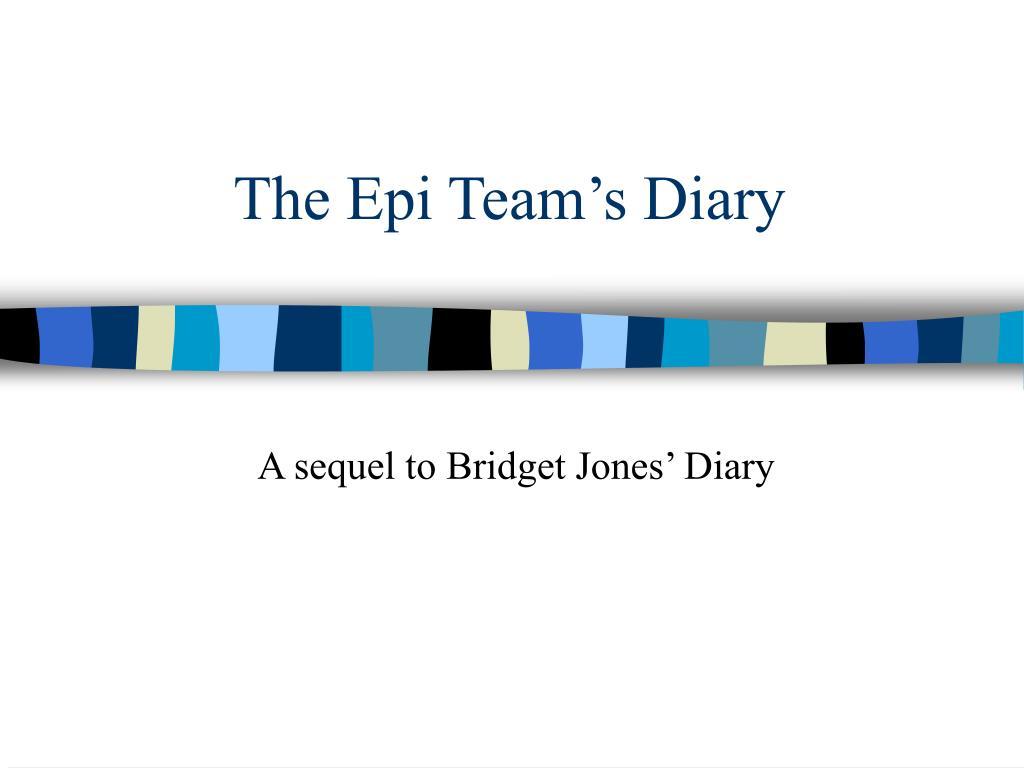 The Epi Team's Diary