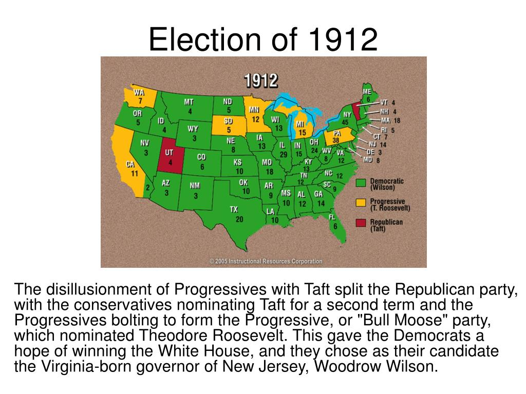 1912 election Start studying presidential election of 1912 learn vocabulary, terms, and more with flashcards, games, and other study tools.