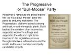 the progressive or bull moose party