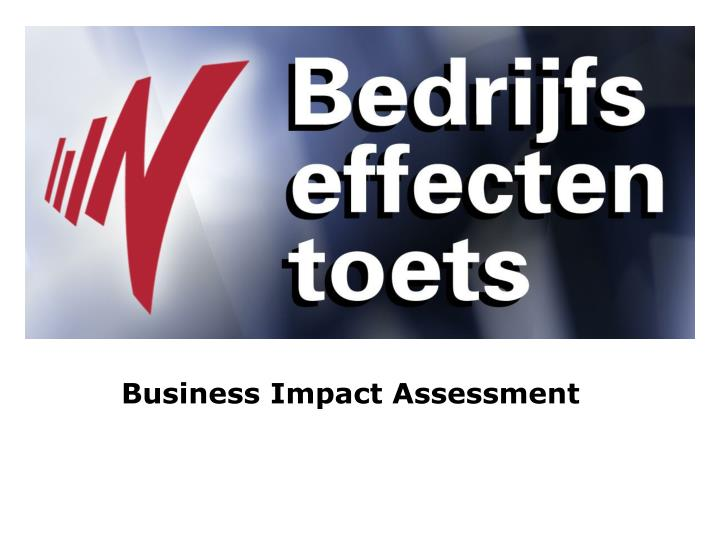 business impact assessment n.
