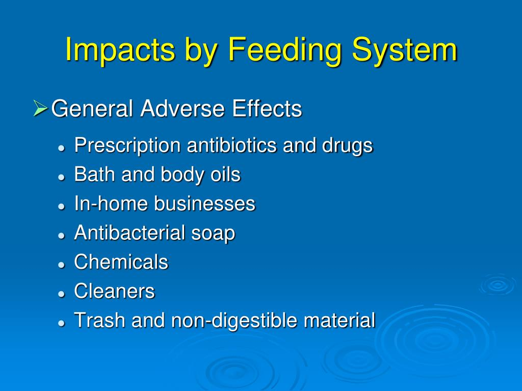 Impacts by Feeding System