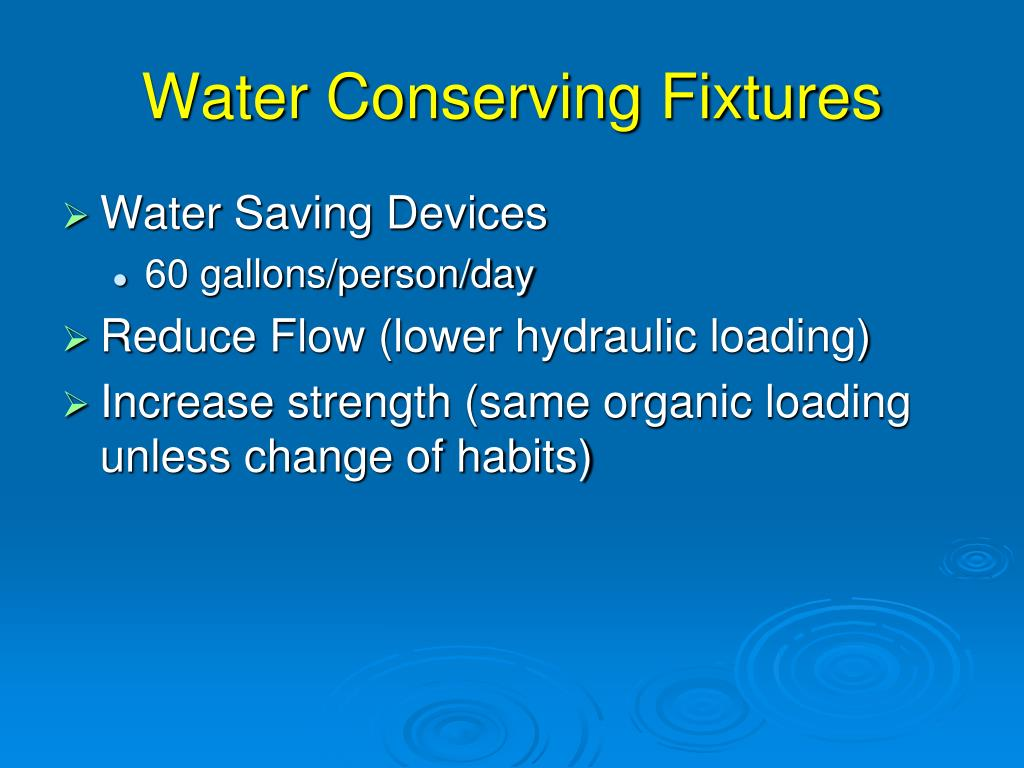 Water Conserving Fixtures