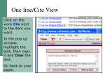 one line cite view
