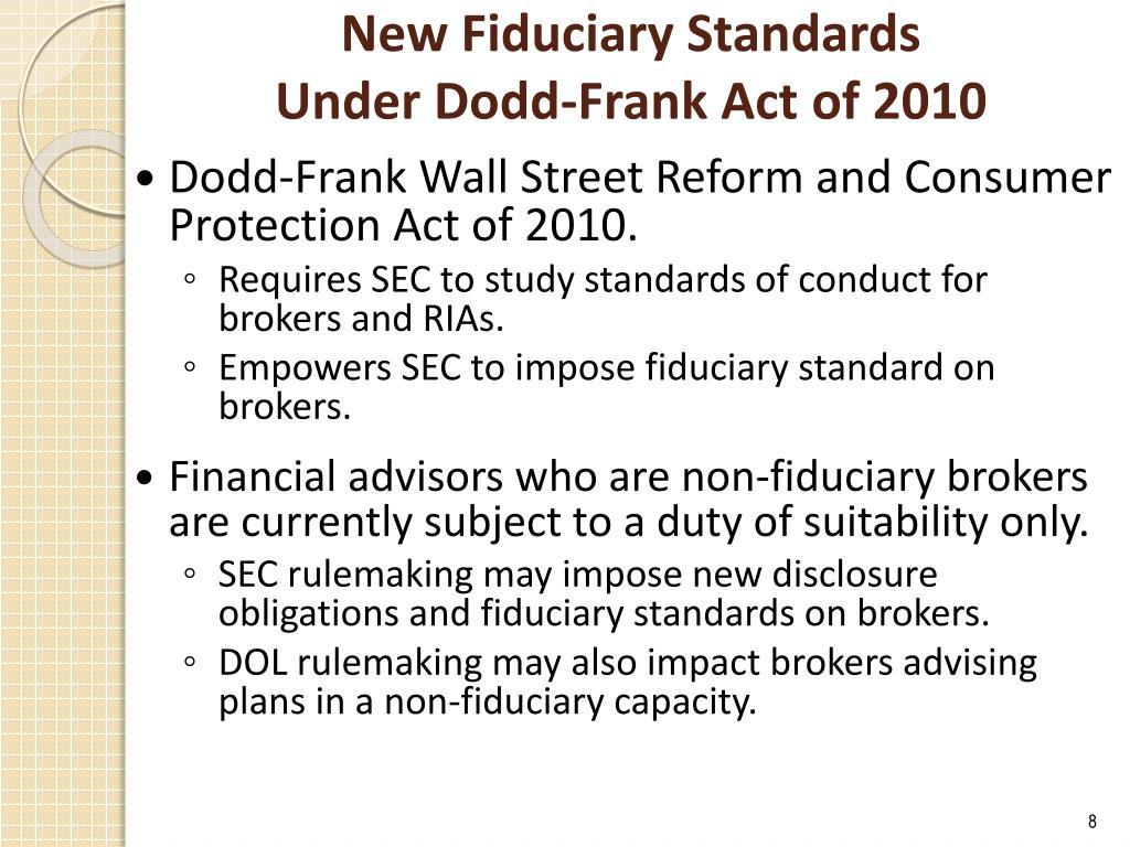 New Fiduciary Standards