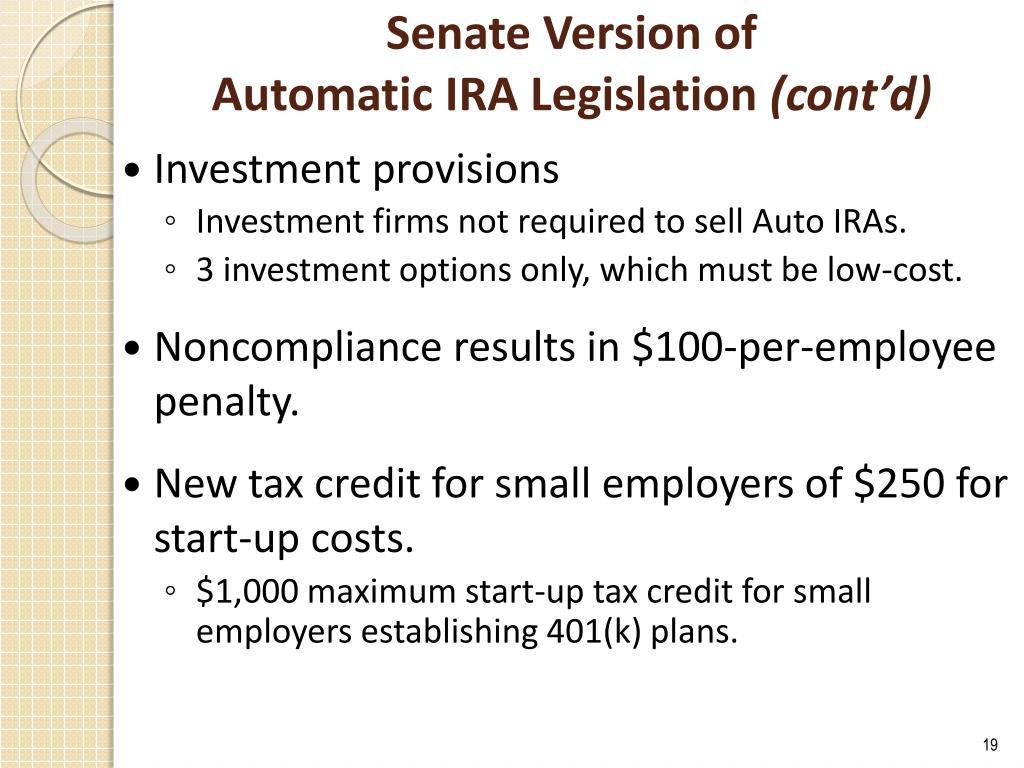 Senate Version of