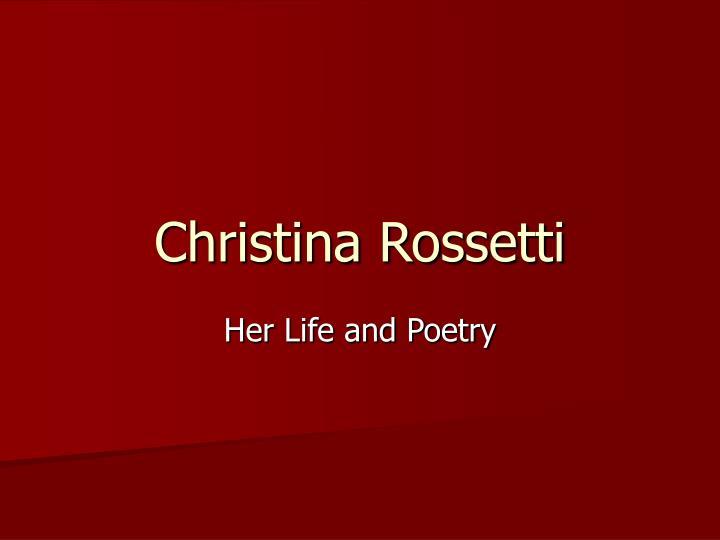 christina rossetti n.