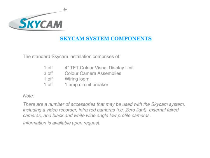 SKYCAM SYSTEM COMPONENTS