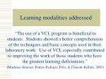 learning modalities addressed