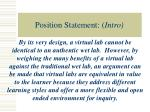 position statement intro
