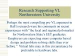 research supporting vl northwestern university13