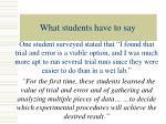what students have to say21