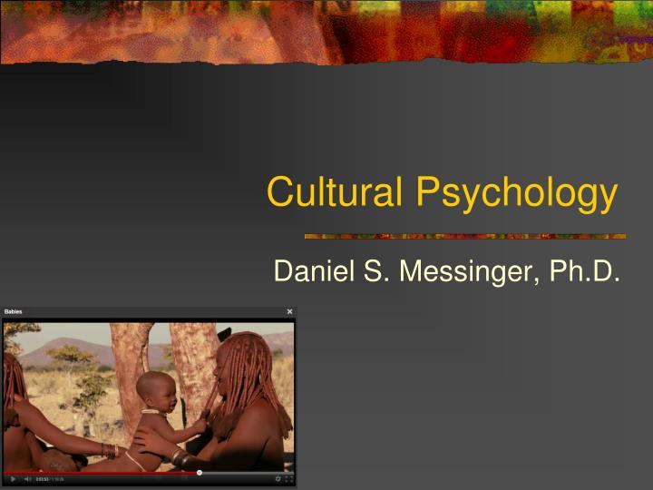 cultural psychology n.