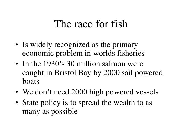 The race for fish
