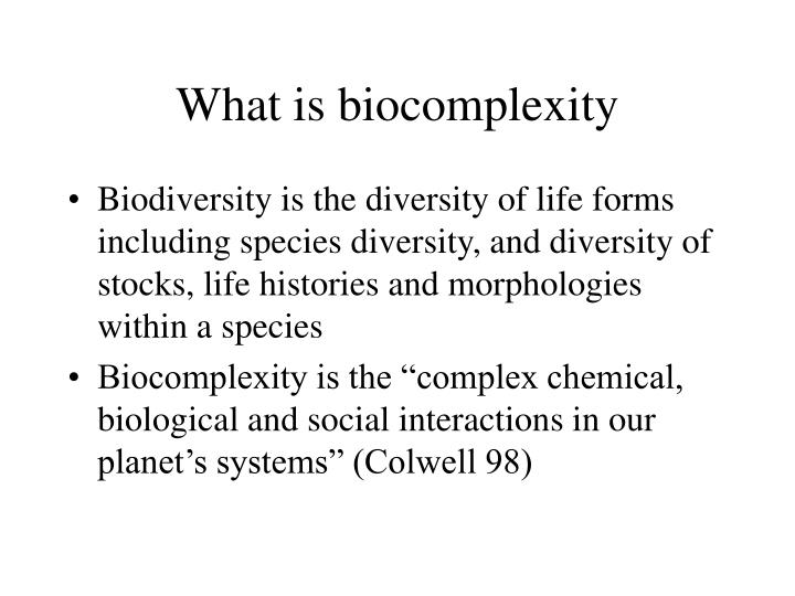 What is biocomplexity