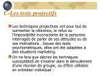c les tests projectifs