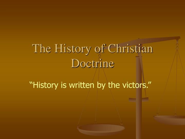 the history of christian doctrine n.