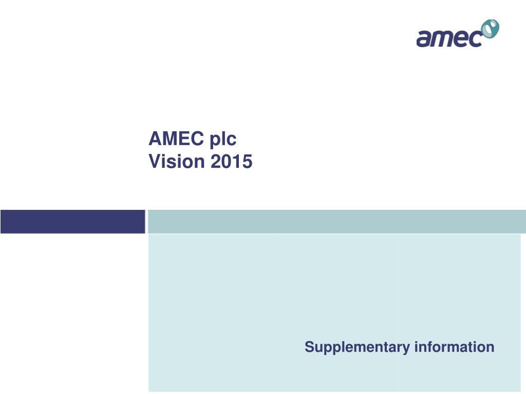 AMEC plc