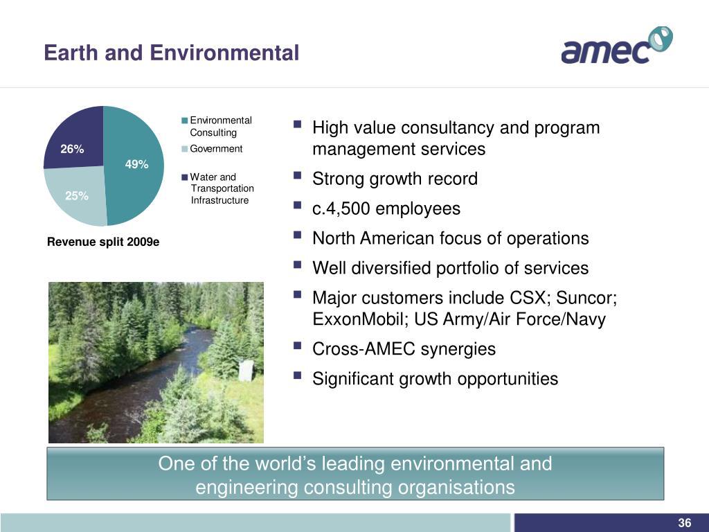Earth and Environmental
