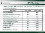 hbp etfs guide