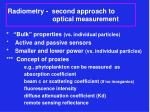 radiometry second approach to optical measurement