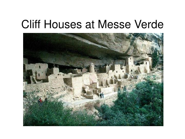 Cliff houses at messe verde