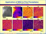 application of msa to fine precipitates